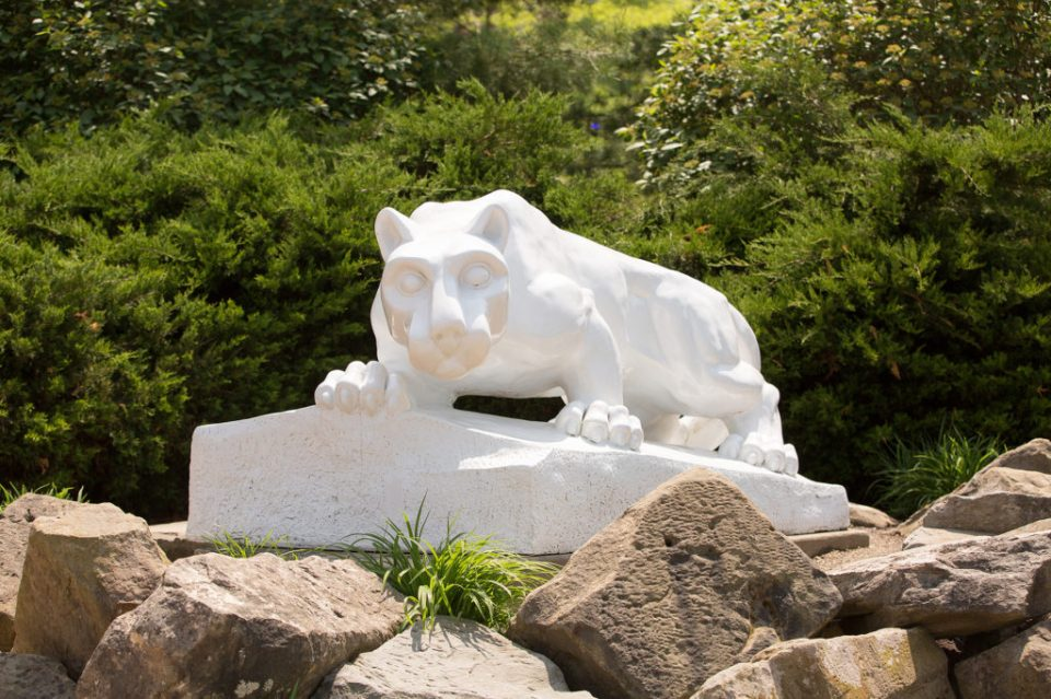 photo of the Nittany Lion statue on the Penn State Behrend campus in Erie, PA