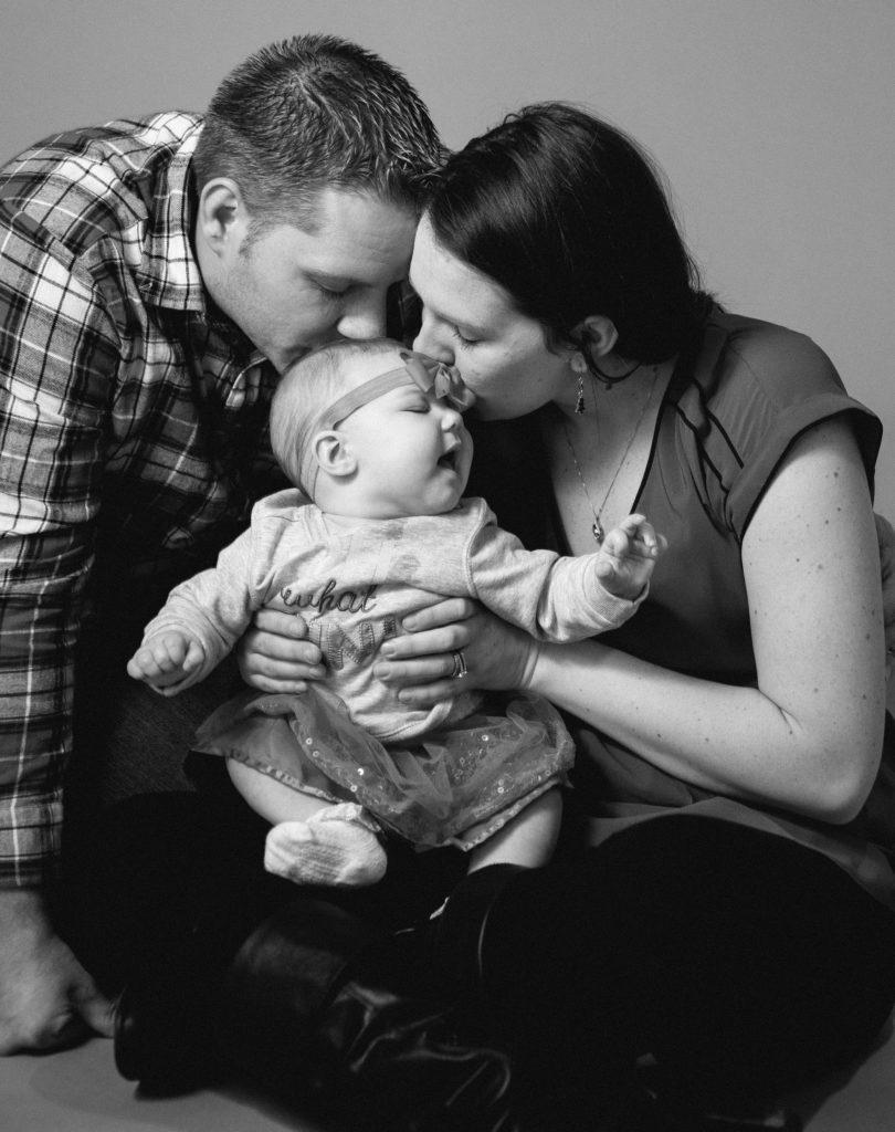 studio family portrait session in Erie PA