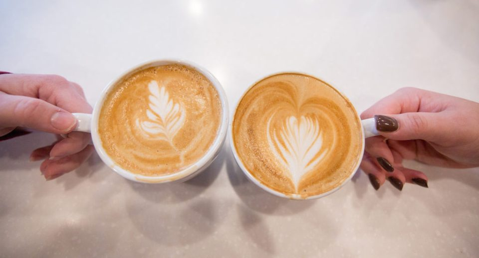 photo of coffee from Ember + Forge in Erie PA