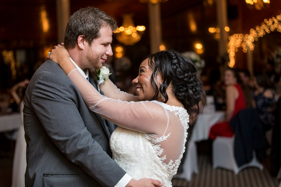 Pittsburgh, PA couple share their first dance at Franzee's and Javy's wedding reception