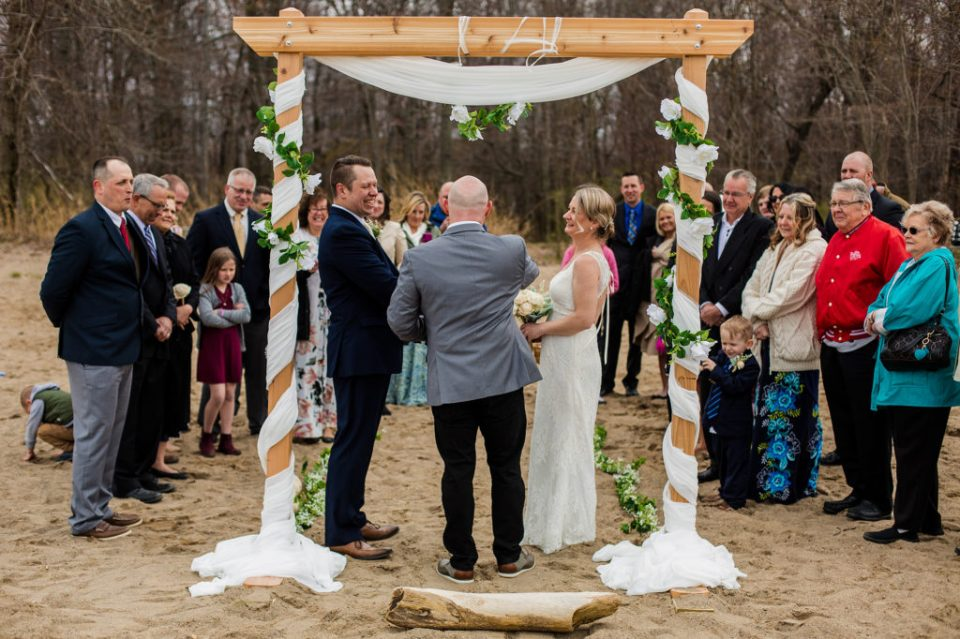 A Presque Isle beach wedding