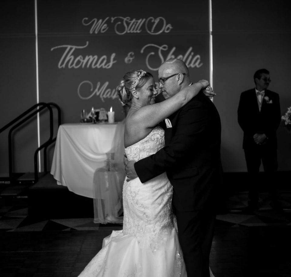 Couple shares first dance at spring vow renewal in Erie, PA