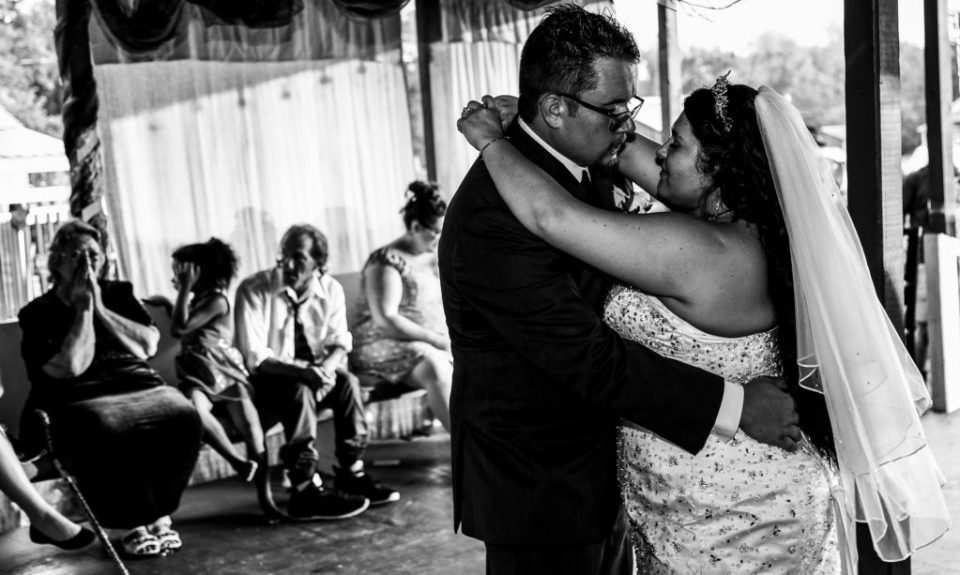First dance at a rustic Connellsville wedding