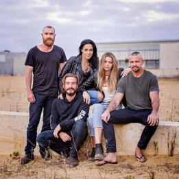 Josh McConville, Simone Kessell, Ryan Corr, Abbey Lee, and Matt. 1% cast photo