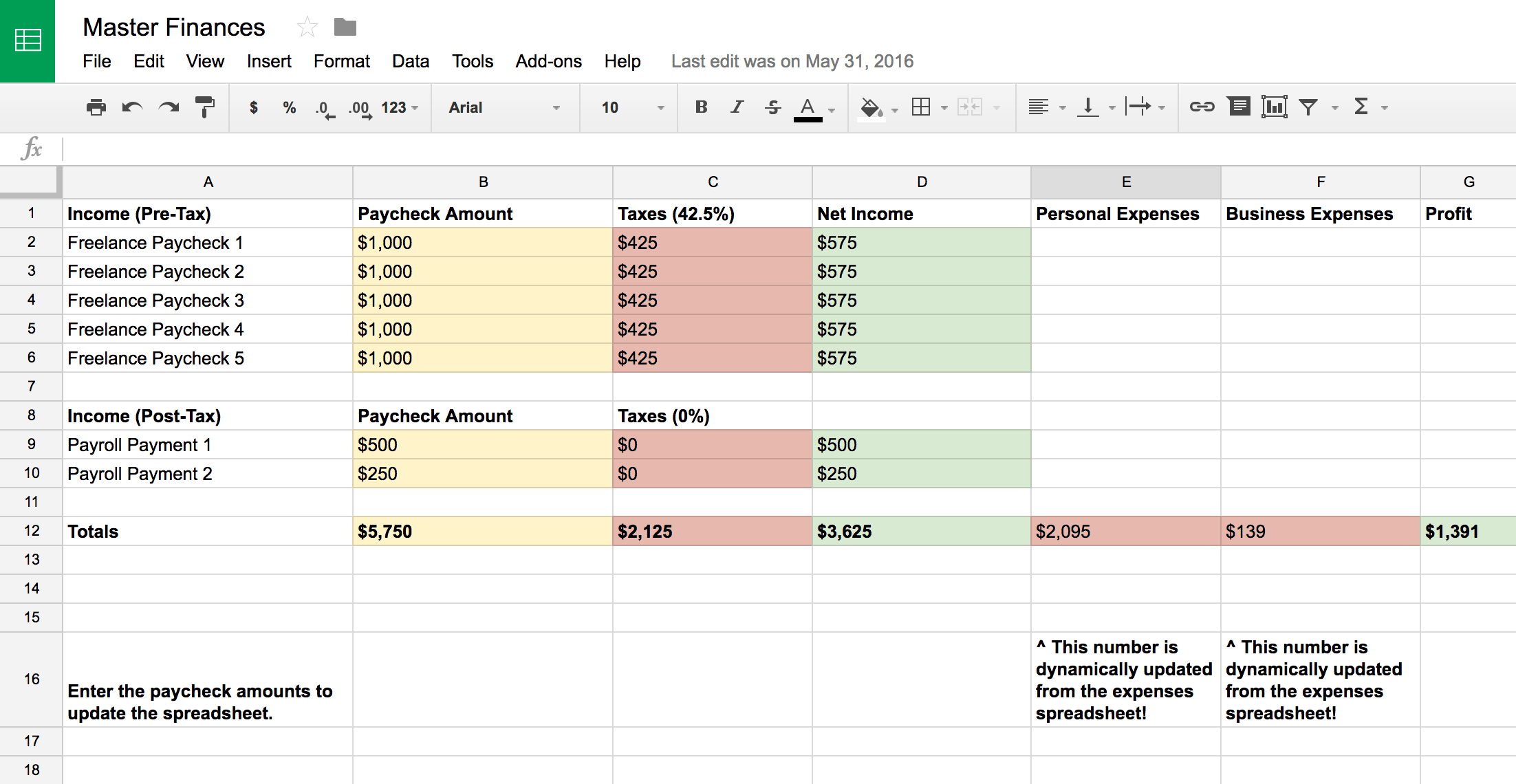 Master Financial Spreadsheets