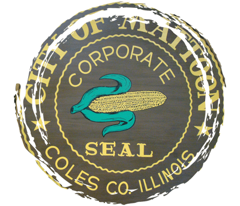 City of Mattoon Corporate Seal in Council Chambers