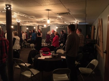 Congregation at the 10:45 a.m. contemporary service