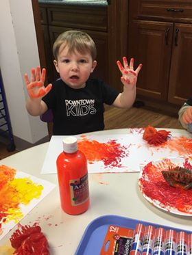 Painting at Downtown Kids