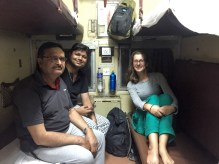 Train friends on the 20hr train to New Delhi