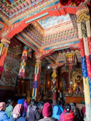 We were lucky enough to view a prayer ceremony in the Upper Pisang monastery