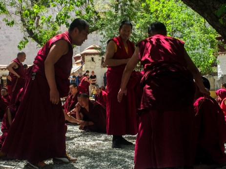 The debating monks at Sera Monastery