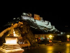 The Potala Palace lit up at night was a sight to see