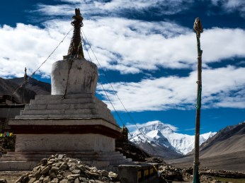 The stupa at Rongbuk Monastery