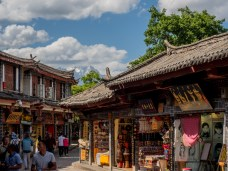 Lijiang old town with it's many tourist shops