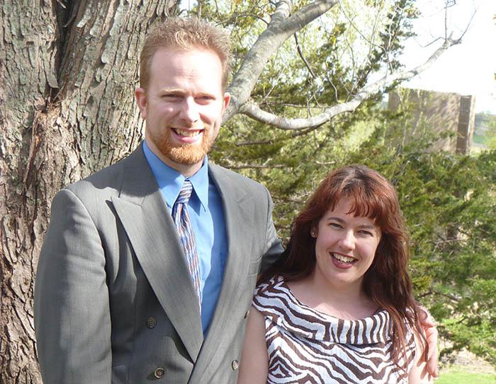 Artist Matt Philleo and his wife