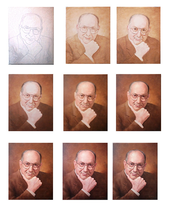 How to Paint an Acrylic Portrait In Progress