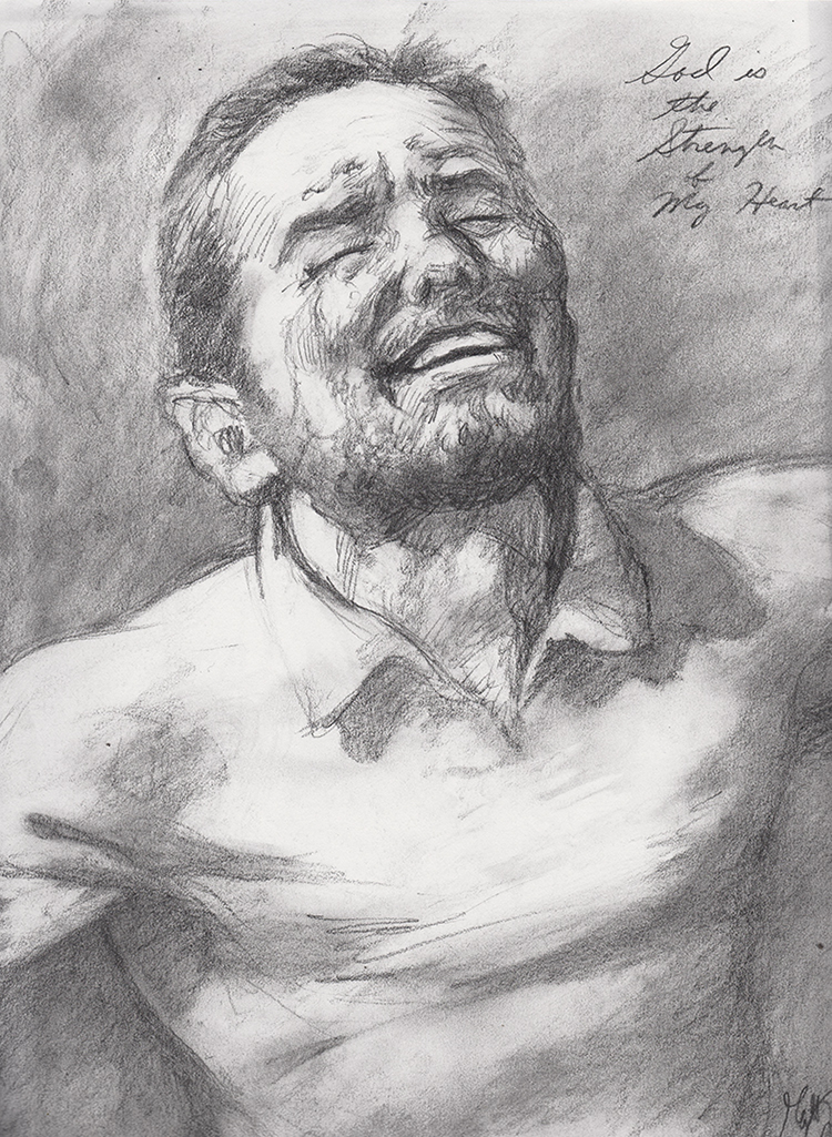 """God is the Strength of My Heart"", a concept sketch by pencil artist Matt"