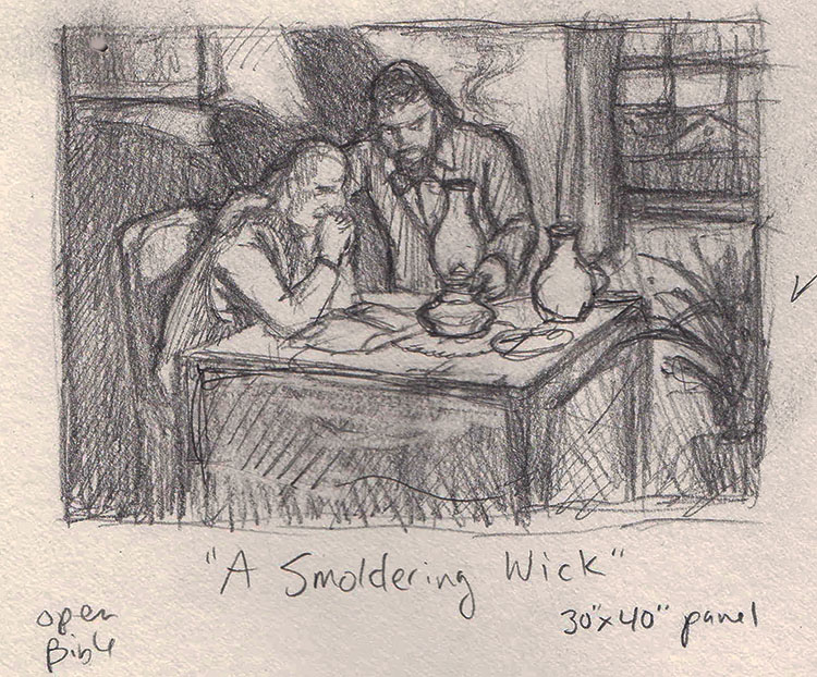 Isaiah 42, the suffering servant, sketch