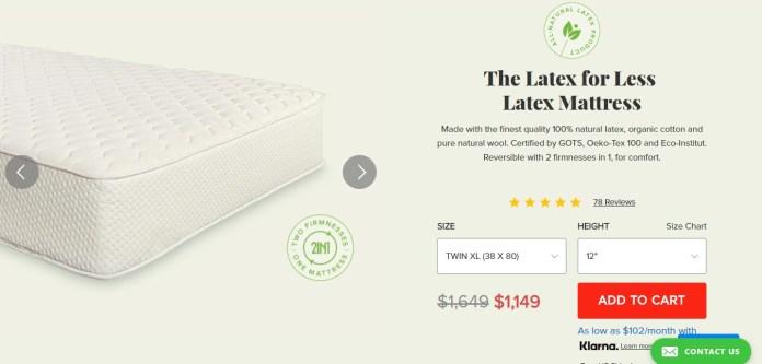 The latex for less - latex mattress
