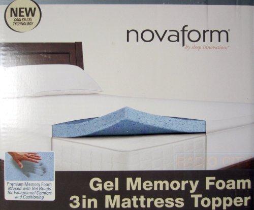 Novaform Gel Memory Foam 3 Inch Mattress Topper
