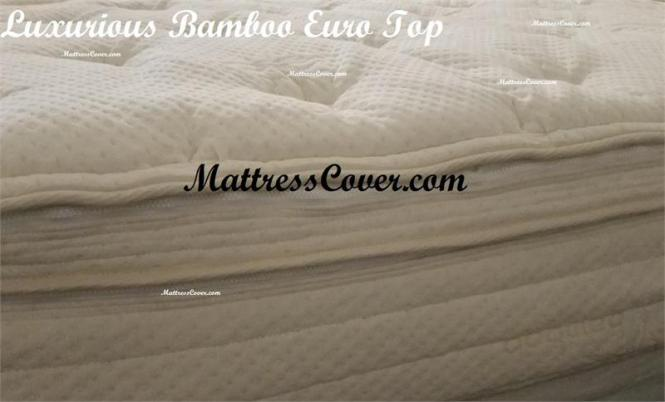 Bamboo Euro Top Mattress Cover For Air Bed