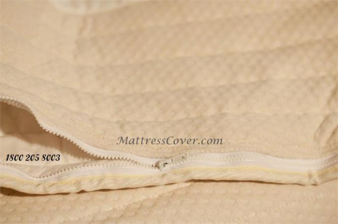 Organic Zipper Mattress Cover For Softside Waterbed Mattresses