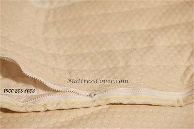 This Cotton Zipper Mattress Cover Is Made For Foam And Latex Mattresses In King Queen