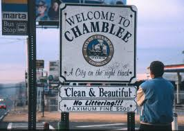 Chamblee Welcome Sign