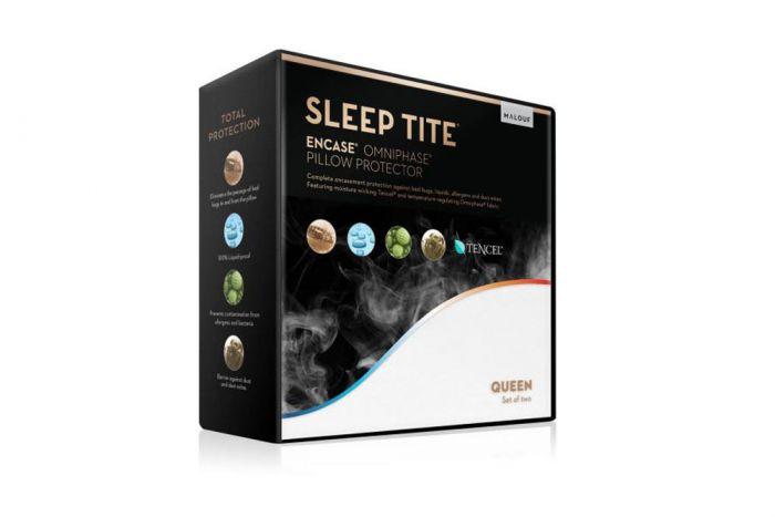 malouf sleep tite encase omniphase pillow protector