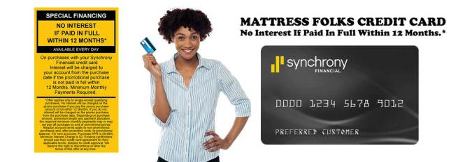 Special Financing With The Mattress Folks Credit Card