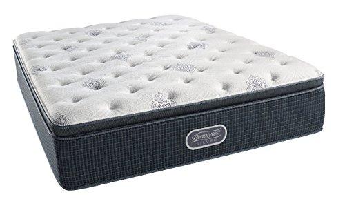 simmons beautyrest silver plush pillow top mattress air cool gel memory foam pocketed coil king