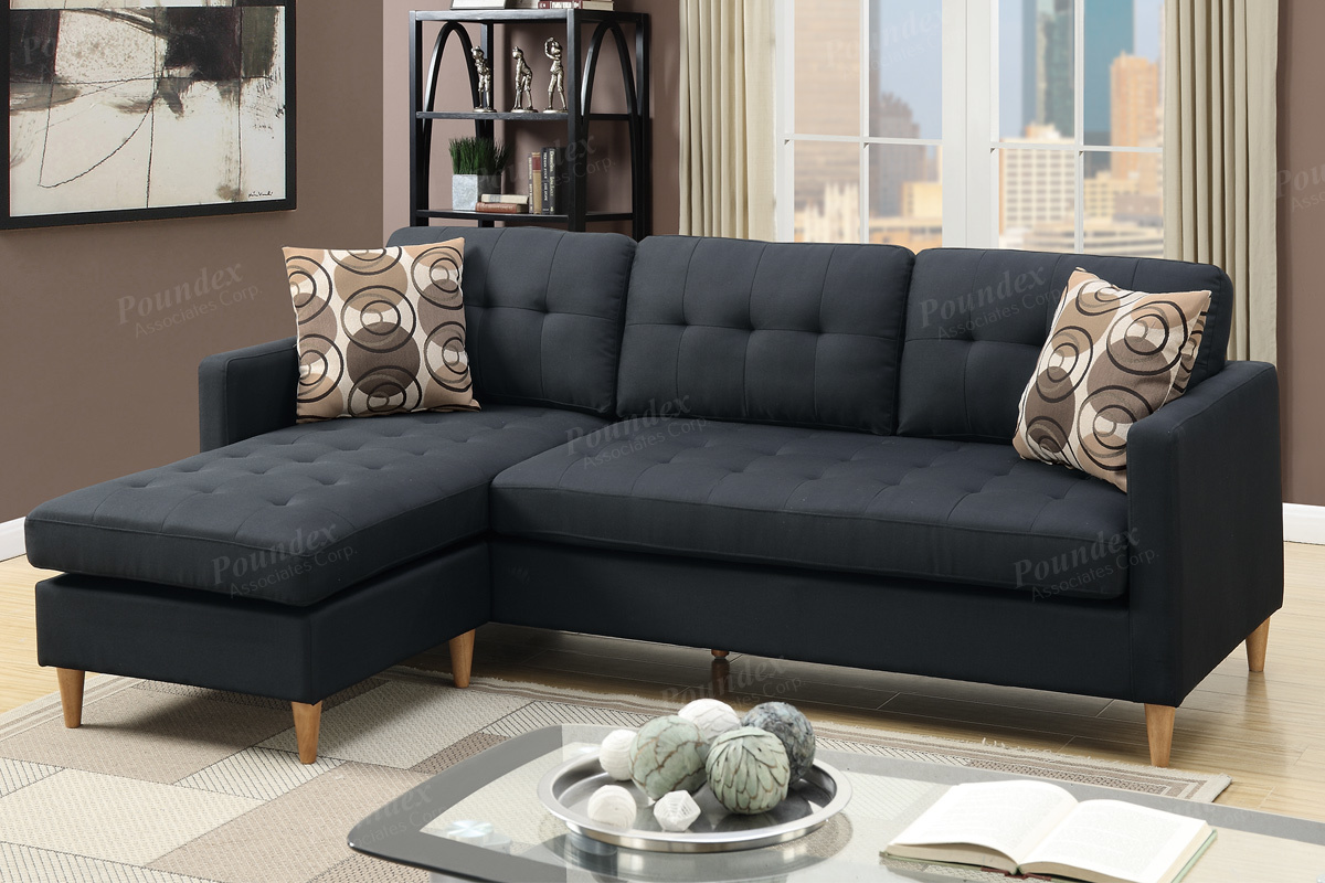 Sectional Compact F7084 Black Furniture Mattress Los Angeles And El Monte