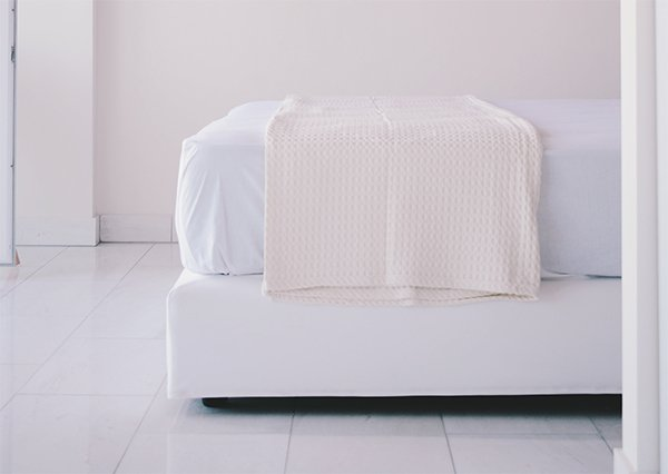 white mattress in the bed room