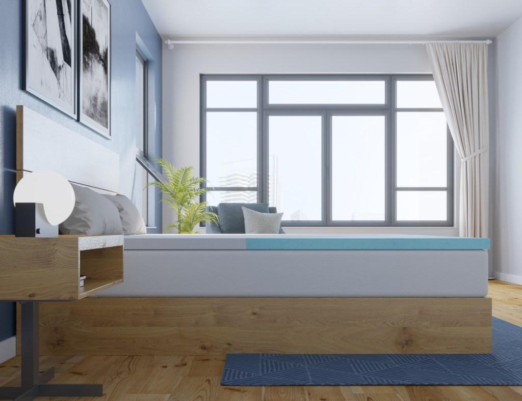 memory foam mattress topper gel ergolush_side