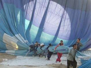 Nile balloon flight