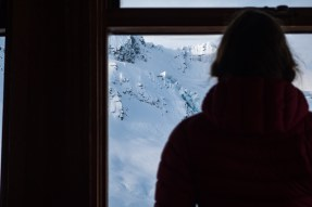Quiet contemplation from the window of the Asulkan Hut