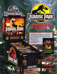Jurassic Park Pinball Flyer