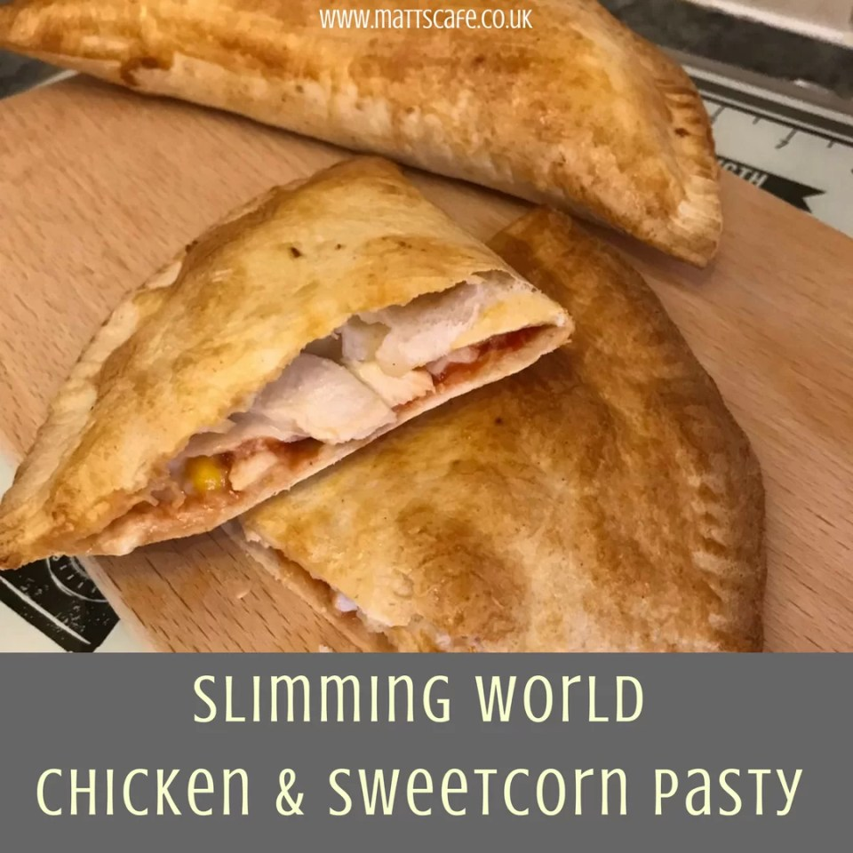 Slimming World Syn Free Chicken and Sweetcorn Pasty