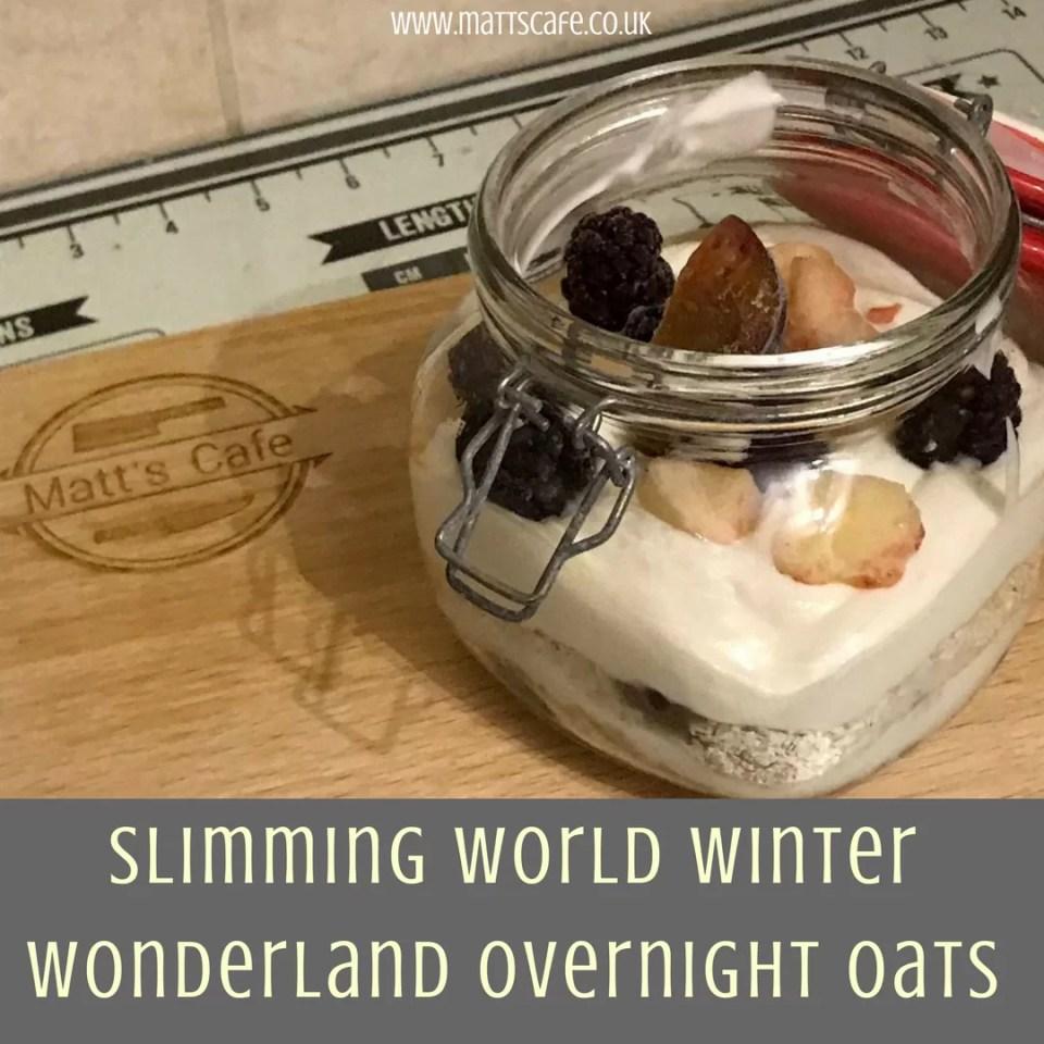 Slimming World Winter Wonderland Overnight Oats
