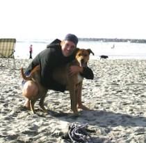 Matt and Tyson at Dog Beach, San Diego.