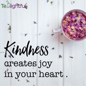 kindness creates joy