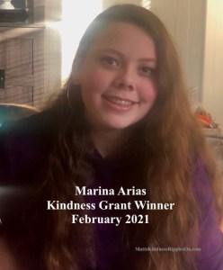 Marina Kindness Grant winner