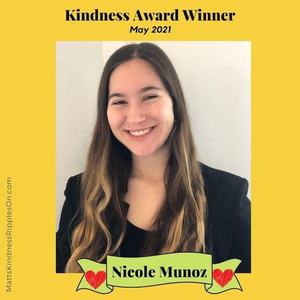Kindness Award Nicole Munoz