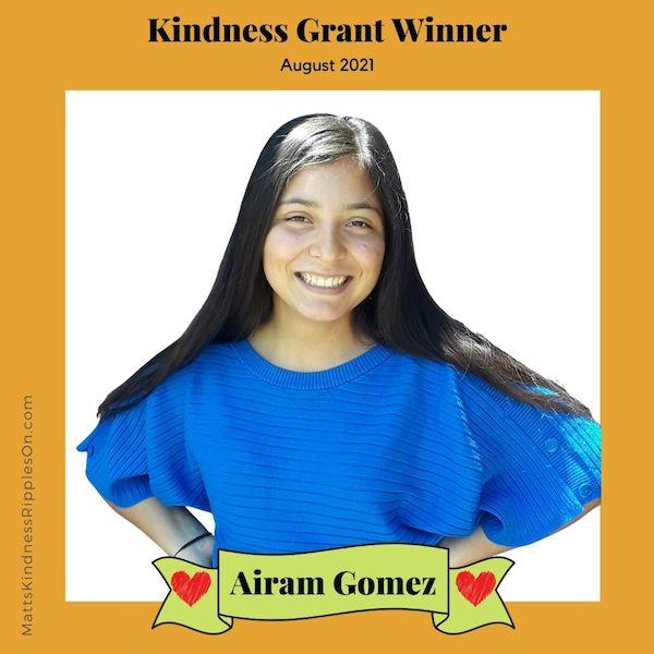 Kindness Grant Winner Airam Gomez