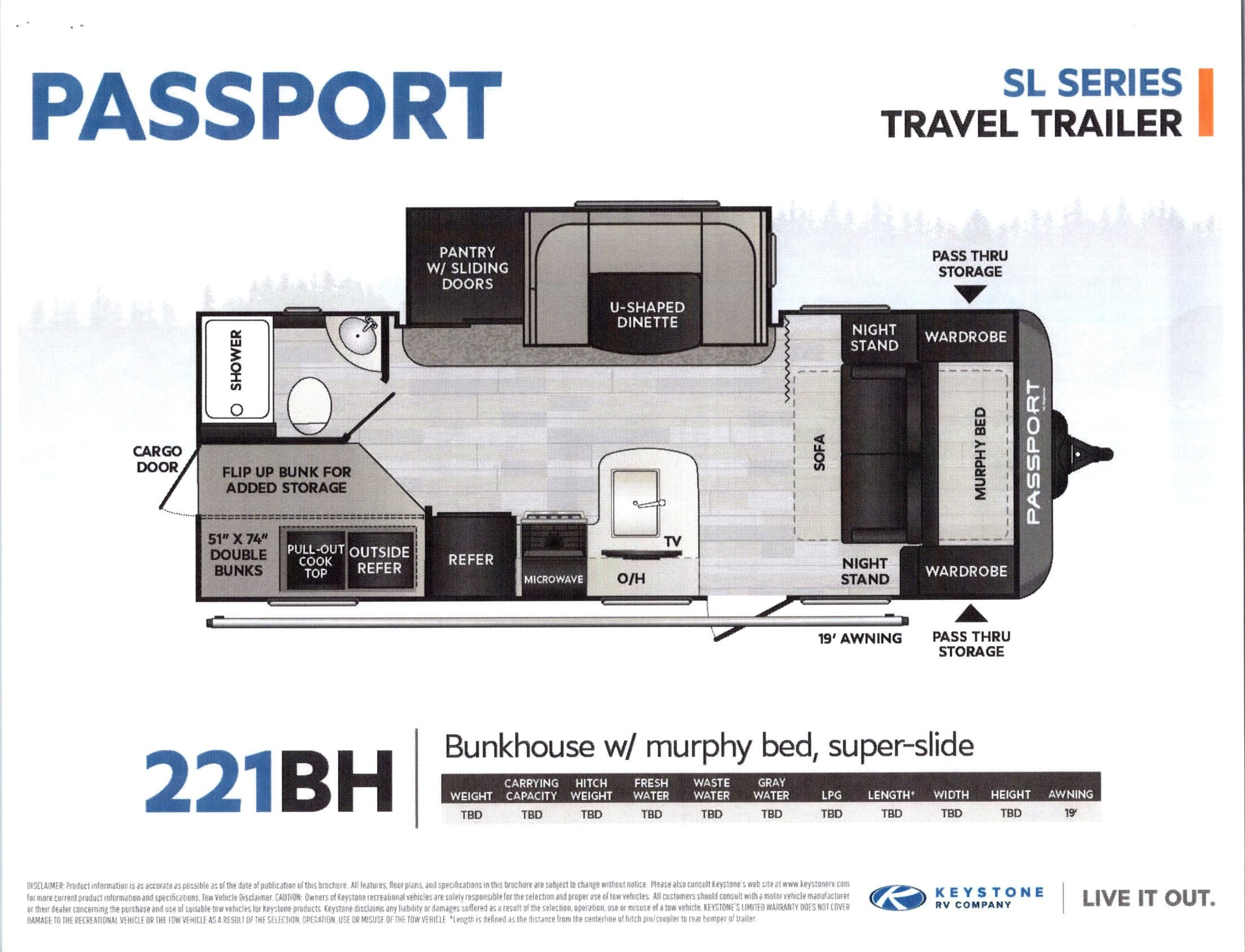 2021 Passport 221BH SL Series