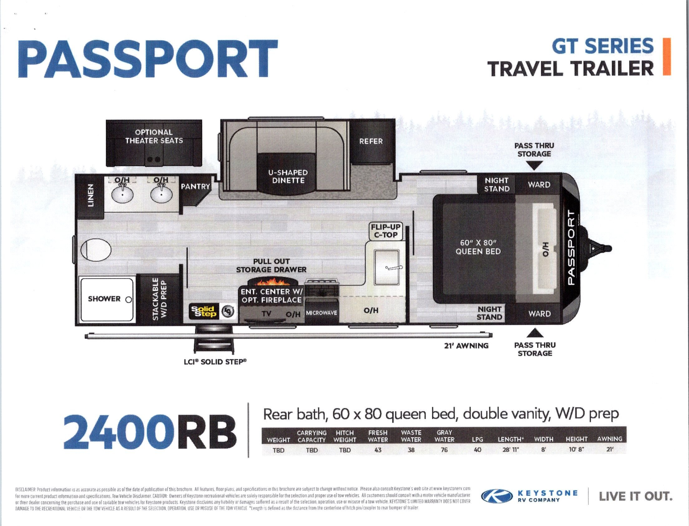 2021 Passport 2400RB GT Series