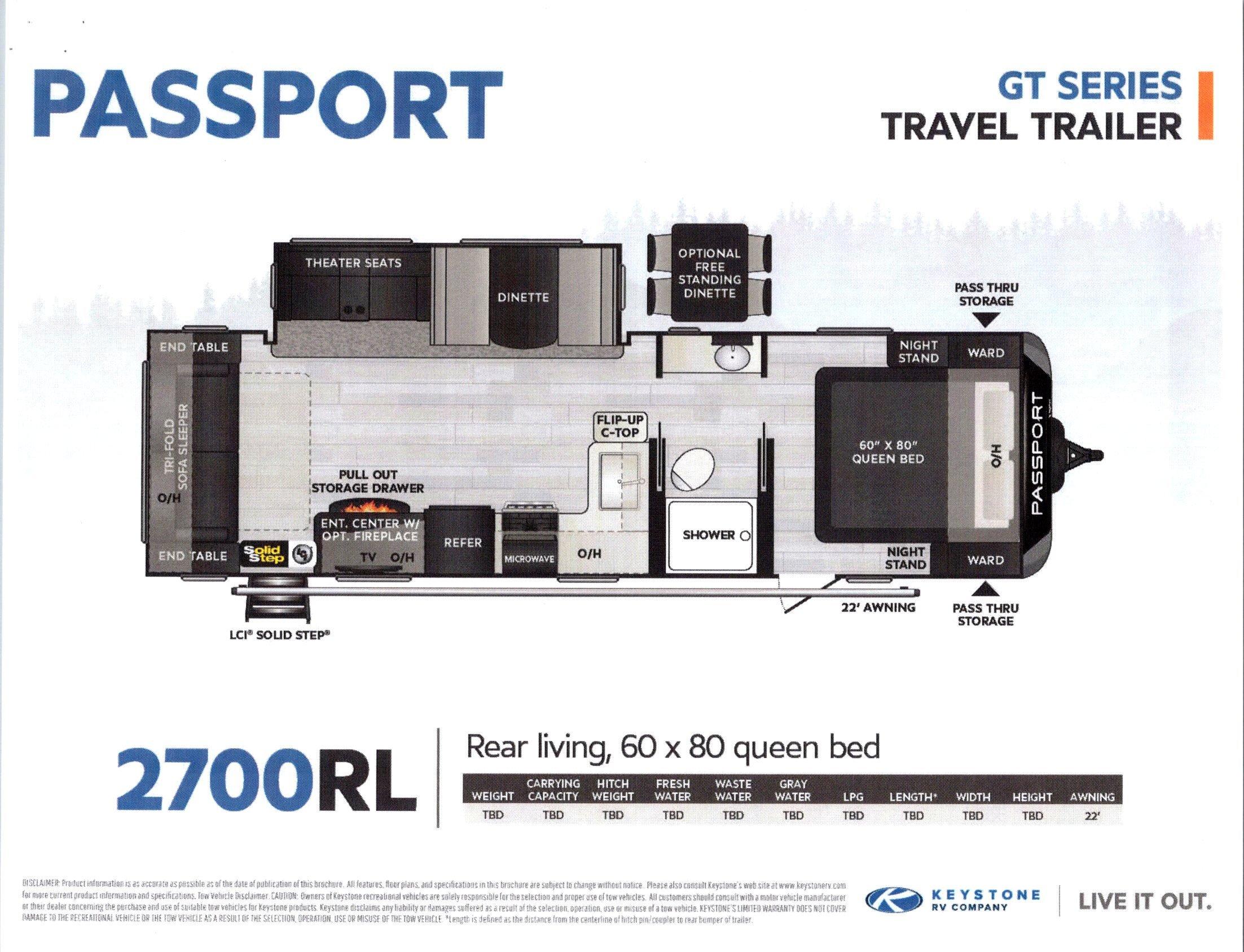 2021 Passport 2700RL GT Series