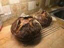 First boule with smaller proofing basket