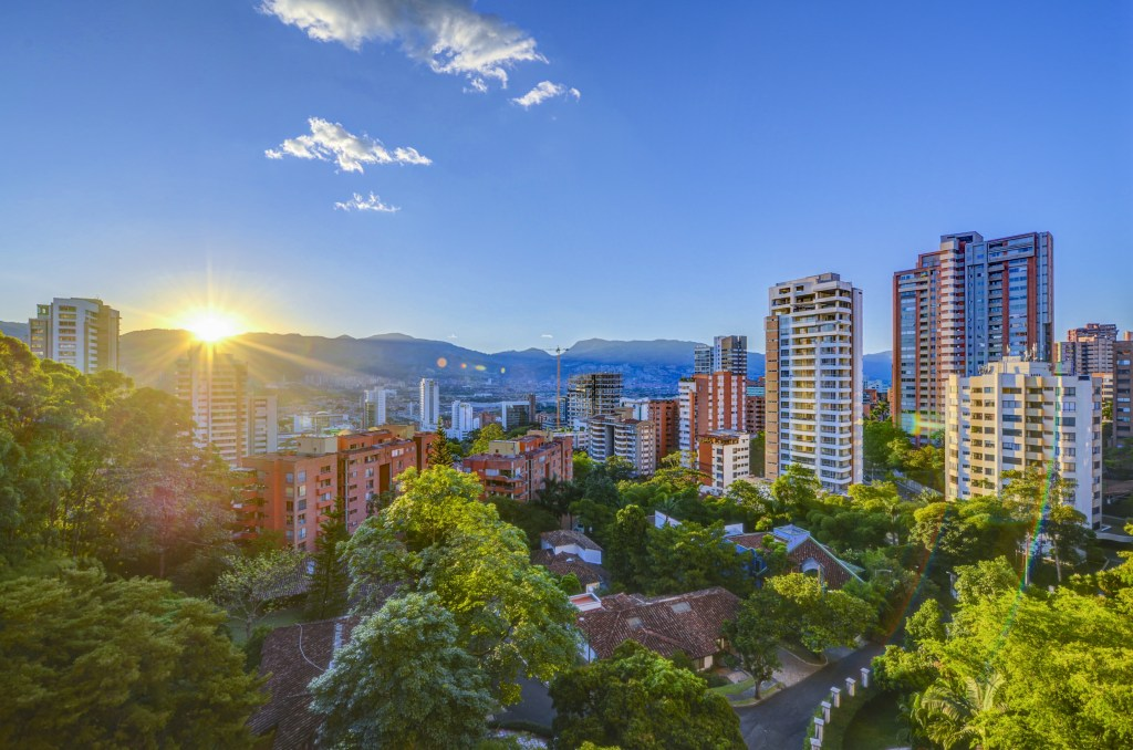 Medellín Colombia Skyline
