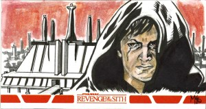 Anakin Skywalker star wars sketch card